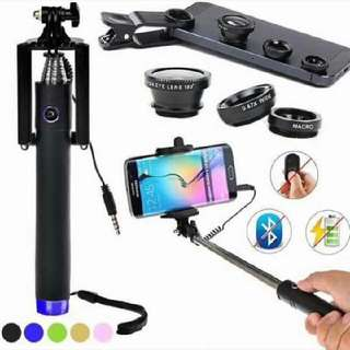 Bluetooth Monopod With Lens