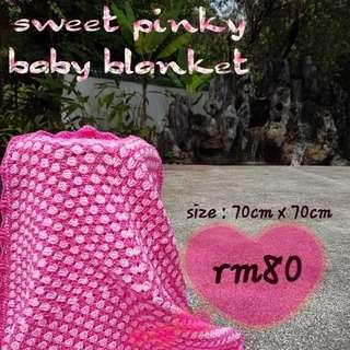 Handmade Pinky Baby Blanket