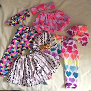 Take all 4 sets baby girl's apparel!
