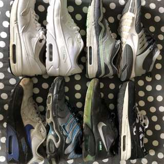 Multiple nike air max shoes (sizes 9-10)