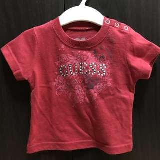 Guess red shirt medium based on tag