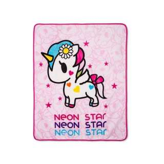 Neon Star Tokidoki Unicorno Plush Throw/ Blanket