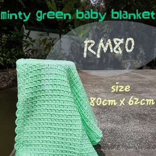 Handmade Minty Green Baby Blanket