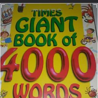 GIANT BOOK OF 4000 WORDS