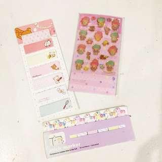Pink Japanese Sticky Note Bundle