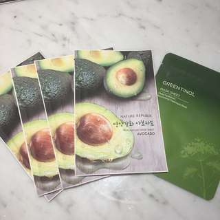 Nature Republic Sheet Masks in Avocado