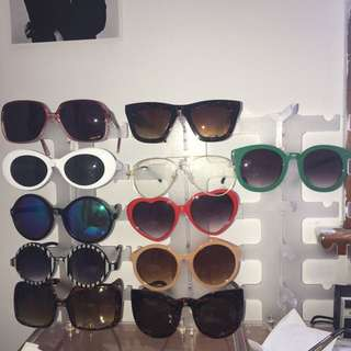 Assorted sunglasses all for 100$