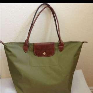 Longchamp L size olive
