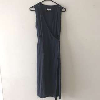 Elka wrap style dress