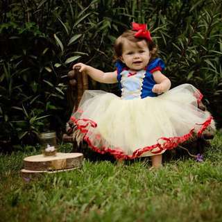 🦁Instock - Snow White dress, baby infant toddler girl children glad cute 123456789