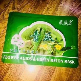 Flower Acids & Green Melon Mask