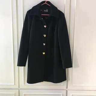 Love Moschino black wool long coat