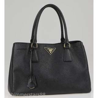 Authentic Prada Black Saffiano Lux Leather Tote Bag BN1874