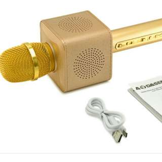 Wireless 2 in 1 Bluetooth karaoke speaker Gold