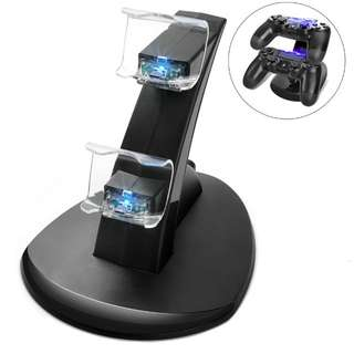 Dual controller usb charger charging dock stand for Sony PlayStation 4
