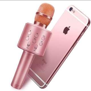 唱k 神器 粉紅色,全新 藍牙 karaoke , 咪高峰 microphone