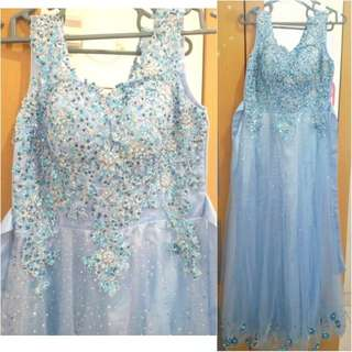 Blue frozen dress