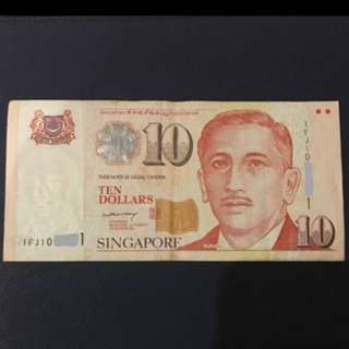$10 paper note by LHL