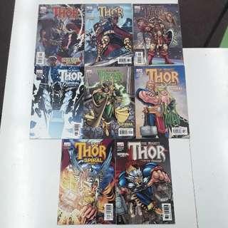 Thor Spiral (2003 Marvel) Comics Set