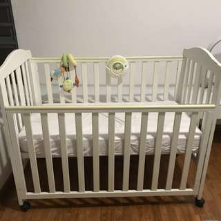 Mothercare Takeley Baby Cot Bed (White Ikea)