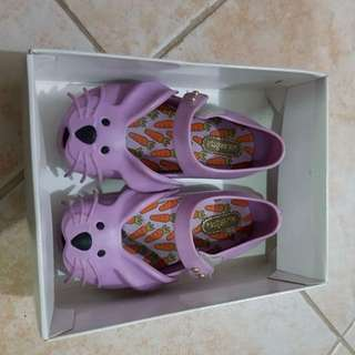 Mini Melissa Bunny Purple Size s7 baby shoes sandals
