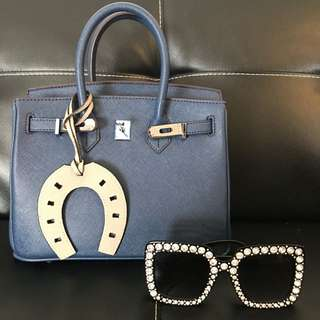 Navy blue bag