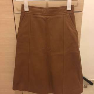 HUGO BOSS leather skirt