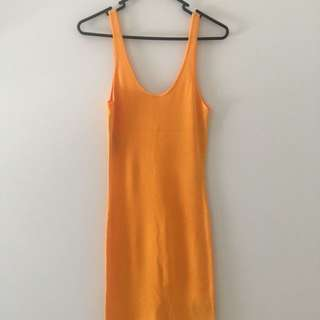 Yellow summer bodycon dress (H&M)