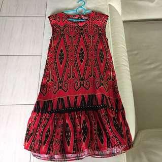 Sarawak Print Dress 4-5Y