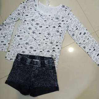 Mickey top + H&M pant