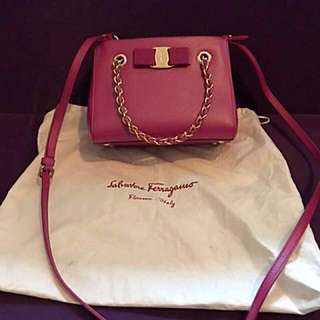 Salvatore Ferragamo Melike Mini tote Shocking pink shoulder bag