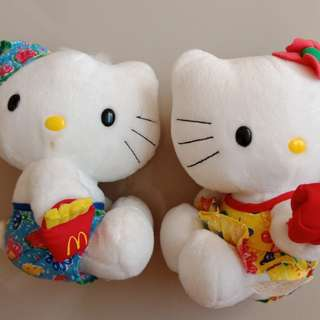 Hello Kitty Couple Swimming Suit Mcdo Plush Stuff Toy