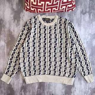 Vintage Fendi monogram beige sweater