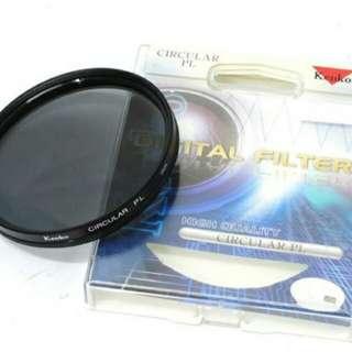 Kenko Lensa Filter High Quality Circular PL 62mm - Hitam