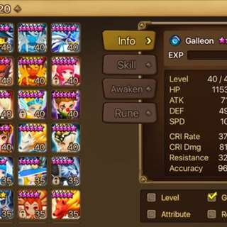 Summoners War Asia Account
