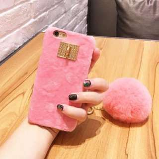 Cute Fur casing for iphone 6s