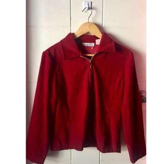 Dressbarn Red Corporate Blazer