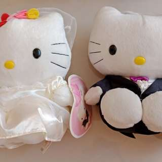 Hello Kitty Wedding Gown & Suit Mcdo Couple Plush Stuff Toy