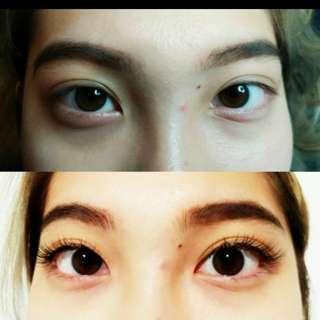 Eyelashes extensions (3D)