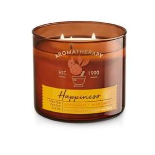 BBW Aromatherapy HAPPINESS Scented Candle 14.5OZ