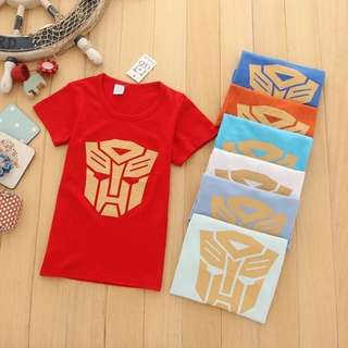 clearance transformer top, yellow blue black red toddler clothes shirt only