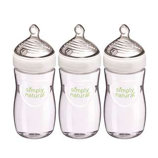 NUK Simply Natural Bottle, 9 Ounce, 3 Pack