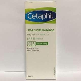 (30% Discount) CETAPHIL UVA/UVB DEFENSE SPF50+ 50ML