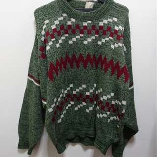 Printed Fuzzy Sweater