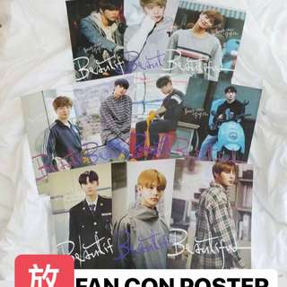 wanna one fan con poster