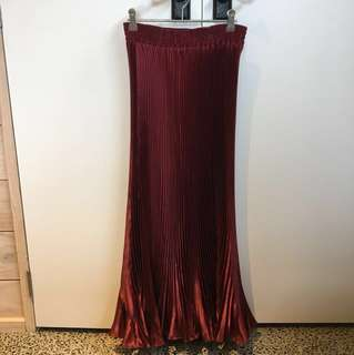 Long Metallic Skirt