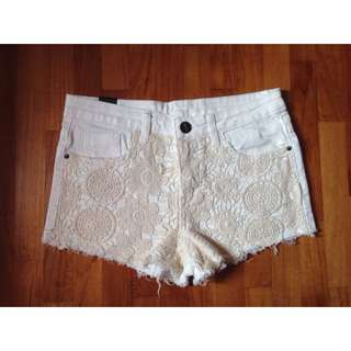 Lacey High-waisted Shorts