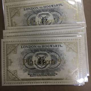Harry Potter Platform 9 3/4 ticket