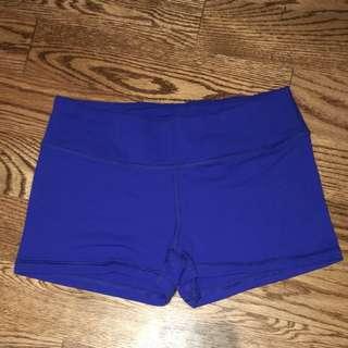 Blue spandex american apparel shorts