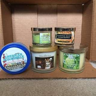 Box of 5 Bath & Body Works Candles